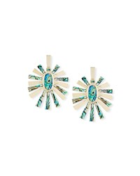 Kendra Scott Sigal Pearlescent Statement Earrings Green