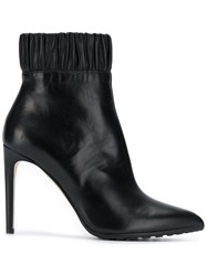 Chloe Gosselin Ruched Ankle Boots Black