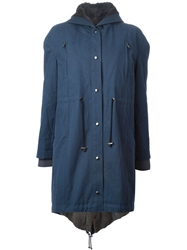 Liska Hooded Coat Blue