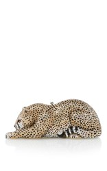 Judith Leiber Couture Crystal Wildcat Clutch Gold