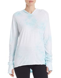 Lvr Tie Dyed Hi Lo Pullover Thumbhole Hoodie Mint