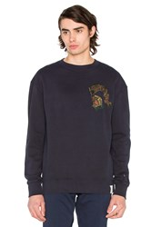 Scotch And Soda Chest Detail Sweatshirt Blue