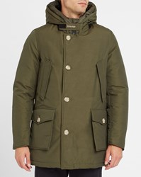 Woolrich Khaki Arctic Nf Goose Down Lining Hooded Waterproof Parka