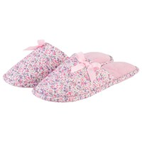 Totes Floral Mule Slippers Pink