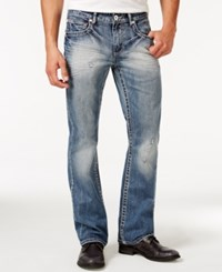Inc International Concepts Lormer Boot Cut Bleach Wash Jeans Only At Macy's Medium Was