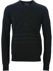 Philipp Plein 'Orange' Sweater Black