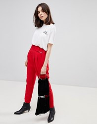 Stradivarius D Ring Tapered Trousers