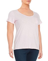 Lord And Taylor Plus V Neck Tee Petal Pink