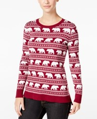 G.H. Bass And Co. Animal Graphic Sweater Heather Mulled Wine Combo