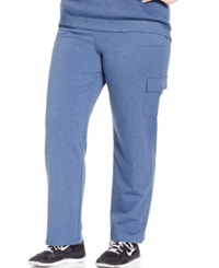 Karen Scott Plus Size French Terry Cargo Lounge Pants Only At Macy's Heather Indigo