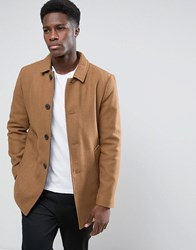 Selected Wool Car Coat Tan