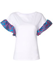 Ultrachic Contrast Ruffled Sleeves White