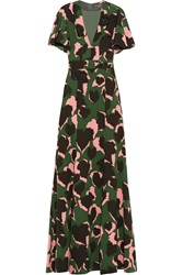 Gucci Embellished Printed Silk Gown