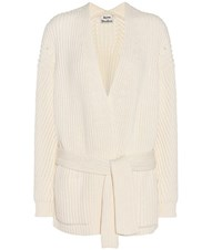 Acne Studios Beate Cotton Blend Cardigan White