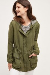 Anthropologie Arlette Hooded Anorak Moss