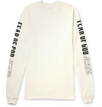 Fear Of God Oversized Printed Cotton Jersey T Shirt White