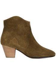 Isabel Marant Etoile 'Dicker' Ankle Boots Brown