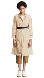 Add Down Nylon Pro Trench Coat Sand