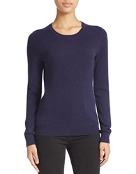 Lord And Taylor Basic Crewneck Cashmere Sweater Evening Blue