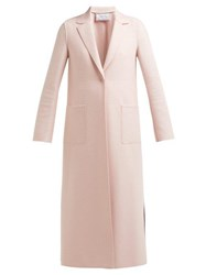 Harris Wharf London Pressed Wool Overcoat Light Pink