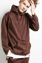 Forever 21 Cross Colours Fleece Hoodie Brown
