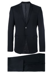 Emporio Armani Formal Suit Men Cupro Virgin Wool 52 Blue