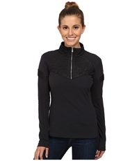 Spyder Lapis Therma Stretch T Neck Black Women's Long Sleeve Pullover