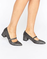 Miss Kg Mary Jane Low Heeled Shoes Silver