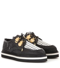 Alexander Mcqueen Leather Platform Brogues Black