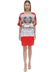 Moschino Sable Printed T Shirt Dress Multicolor