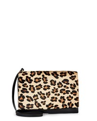 Jaeger Leopard Parker Cross Body Bag Brown