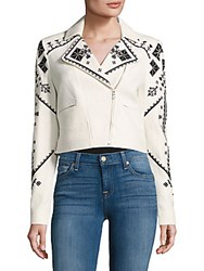 Bcbgmaxazria Woven Long Sleeve Sportcoat Off White Combo