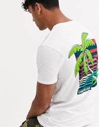 Quiksilver In The Jungle T Shirt In White