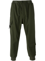 Y 3 Tapered Cargo Trousers Green