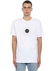 Vetements Printed Target Cotton Jersey T Shirt White