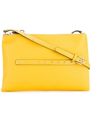 Red Valentino Stars Studded Crossbody Bag Women Calf Leather One Size Yellow Orange