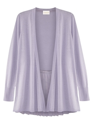 East Pleat Back Cardigan Lavender