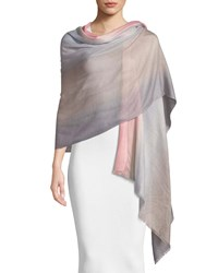 Emporio Armani Ombre Wool Scarf Pink