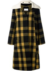 Maison Martin Margiela Checked Oversize Cuff Coat Black