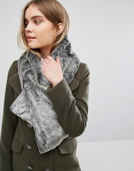 Oasis Faux Fur Tippet Scarf Grey