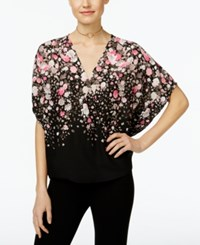 Inc International Concepts Surplice Butterfly Sleeve Top Only At Macy's Falling Flowers