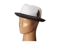 Stacy Adams Polybraid Fedora With Two Tone Band White Black Fedora Hats