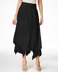 Styleandco. Style And Co. Handkerchief Hem Skirt Only At Macy's Deep Black