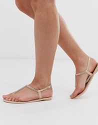 Lipsy Diamante Jelly Sandal In Pink