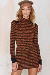 Nasty Gal Vintage All Mixed Up Wool Knit Dress