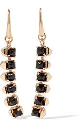 Valentino Gold Tone Crystal Earrings One Size