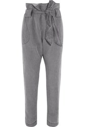 Vivienne Westwood Anglomania Kung Fu Twill Tapered Pants Gray