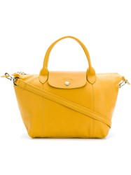 Longchamp Foldover Top Tote Bag Yellow And Orange
