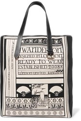 J.W.Anderson Jw Anderson Leather Trimmed Printed Canvas Tote Black