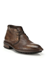 To Boot Clemmons Deerskin Chukka Boots Chocolate